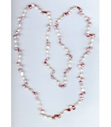 "40"" keshi and fresh water pearl endless necklace"