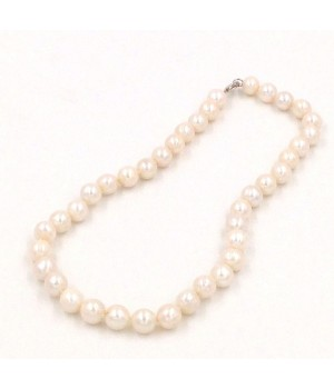 """925 Silver 18"""" 10-11mm white pearl necklace"""