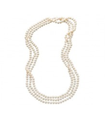 "100"" 7-8mm fresh water pearl endless necklace"